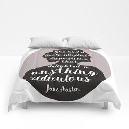 Jane Austen Quote Comforters