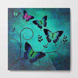 Texture Butterflies Background Metal Print