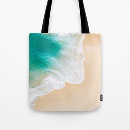 Sand Beach - Waves - Drone View Photography Tote Bag