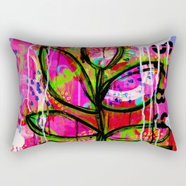 Leaves painting - Abstract Rectangular Pillow