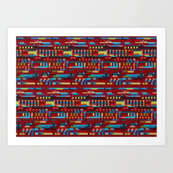 Manly cubes of color Art Print