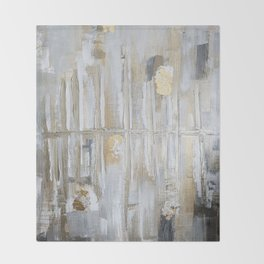 Metallic Abstract Throw Blanket