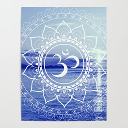 Om Mandala : Blue Waters Poster