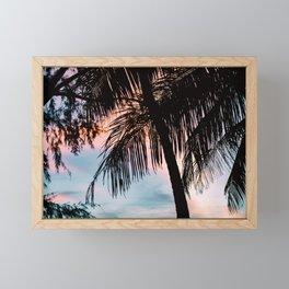 Summer Palm Trees Framed Mini Art Print