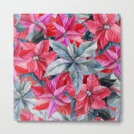 Poinsettia pattern 2 Metal Print