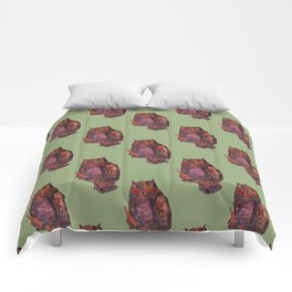 own in green Comforters