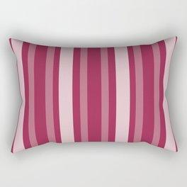 Raspberry Victorian Lady Stripe Rectangular Pillow