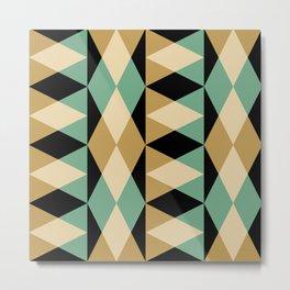 Mid Century Modern Geometric Pattern 339 Metal Print