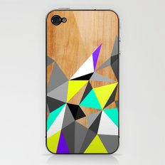 Wooden Geo Neon iPhone & iPod Skin