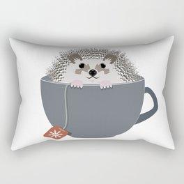 Holiday Tea Cup Hedgehog Rectangular Pillow
