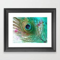 Peacocktail Framed Art Print