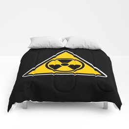 radioactive warning triangle Comforters