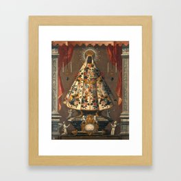 Black Madonna Mexican Painting, 1745 Framed Art Print