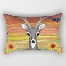 white tailed deer, bats, black eyed susans Rectangular Pillow