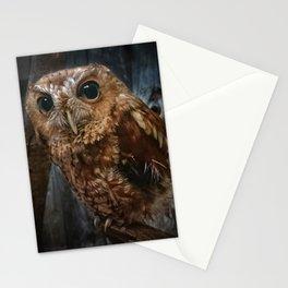Screech Owl Portrait Stationery Cards