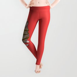 Merry Catmas - Funny Meowy Christmas Cat Tree Leggings