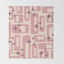 Retro Mid Century Modern Abstract Pattern 577 Dusty Rose Decke