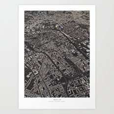 Berlin city map Art Print