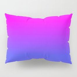 Neon Blue and Hot Pink Ombré Shade Color Fade Pillow Sham