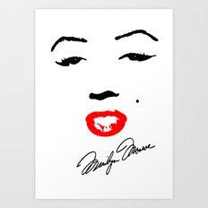 Marilyn Monroe! Art Print