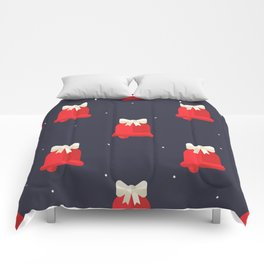 Red Christmas Bell Pattern Comforters