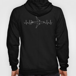 ECG Pilot Heartbeat Pulse Gift for Aviation & Aeroplane Lovers Hoody