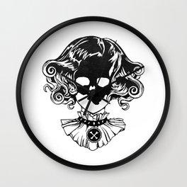 Skull Maiden - Blk Wall Clock