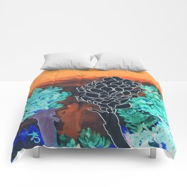 DESERT NIGHT Alpinia Purpurata Comforters