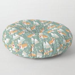 Corgis in the mountains Floor Pillow