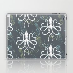 Ghostly Squid Damask Laptop & iPad Skin