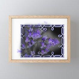 Bluebells in Celtic knot frame Framed Mini Art Print