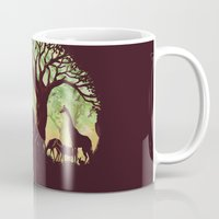 king Mugs featuring The jungle says hello by Picomodi