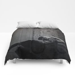 Slytherin Inspired Gothic Dark Angel Black and White Comforters