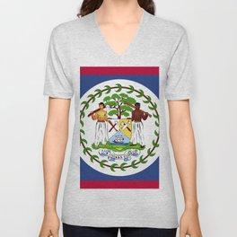 Belize flag emblem Unisex V-Neck