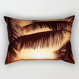 Perfect Palm Sunset (Color) Rectangular Pillow