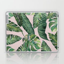 Jungle Leaves, Banana, Monstera Pink #society6 Laptop & iPad Skin