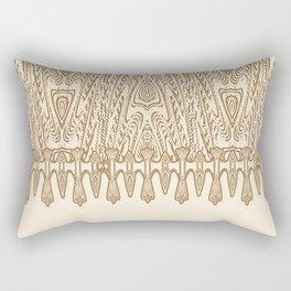 Sepia Macramé Arrowhead Chenille Lace Pattern Rectangular Pillow