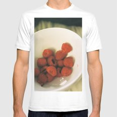 berry perfect MEDIUM White Mens Fitted Tee