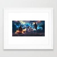 avatar the last airbender Framed Art Prints featuring Avatar: The Last Airbender - Aang @ Avatar State - Fan Art by Kenwoodh