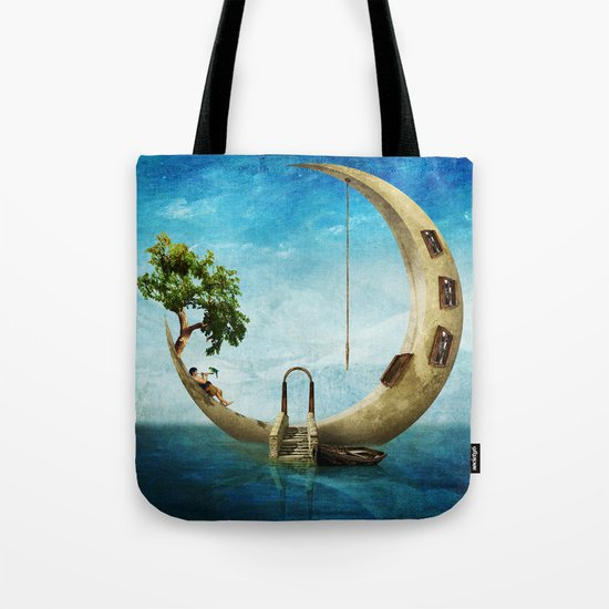 Home Sweet Moon Tote Bag