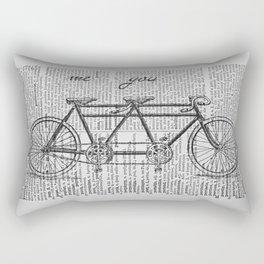 Me & You Tandem Bike Rectangular Pillow