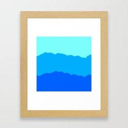 Minimal Mountain Range Outdoor Abstract Framed Art Print
