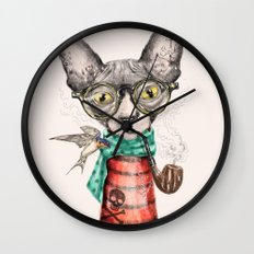 Mr.Peterbald Wall Clock