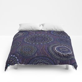 Dot Art Circles Purples Comforters