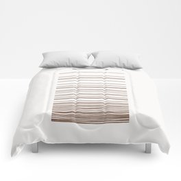 Linear Gradation - Chocolate Comforters