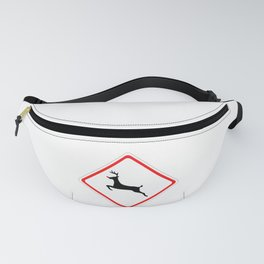 Christmas Reindeer Street Sign Fanny Pack