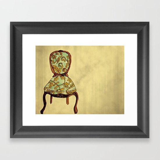 have a seat. Framed Art Print