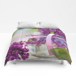 Lilac Spring Still life Comforters