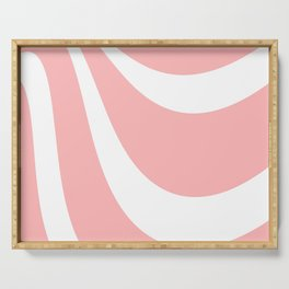 Abstract pattern - pink and white. Serving Tray