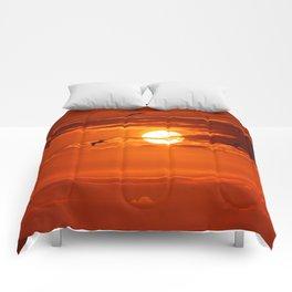 Red Sunset2 False Bay Comforters